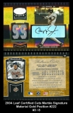 2004 Leaf Certified Cuts Marble Signature Material Gold Position #222