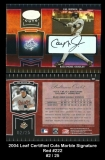 2004 Leaf Certified Cuts Marble Signature Red #222