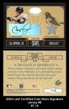 2004 Leaf Certified Cuts Stars Signature Jersey #8
