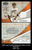 2004 Leaf Certified Materials Fabric of the Game #17