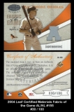 2004 Leaf Certified Materials Fabric of the Game AL NL #155