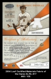 2004 Leaf Certified Materials Fabric of the Game AL NL #17