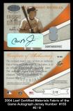 2004 Leaf Certified Materials Fabric of the Game Autograph Jersey Number #155