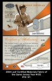 2004 Leaf Certified Materials Fabric of the Game Jersey Year #155