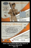 2004 Leaf Certified Materials Fabric of the Game Stats #155