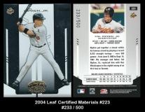 2004 Leaf Certified Materials #223