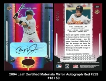 2004 Leaf Certified Materials Mirror Autograph Red #223
