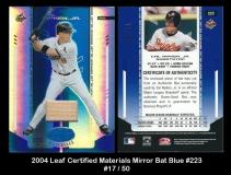 2004 Leaf Certified Materials Mirror Bat Blue #223