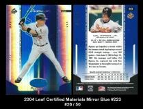 2004 Leaf Certified Materials Mirror Blue #223