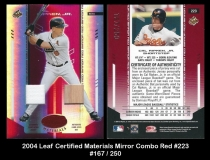 2004 Leaf Certified Materials Mirror Combo Red #223