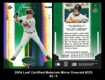 2004 Leaf Certified Materials Mirror Emerald #223
