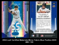 2004 Leaf Certified Materials Mirror Fabric Blue Position #223
