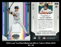 2004 Leaf Certified Materials Mirror Fabric White #223