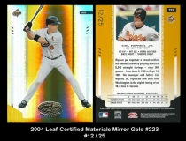 2004 Leaf Certified Materials Mirror Gold #223