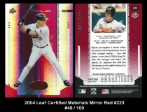 2004 Leaf Certified Materials Mirror Red #223