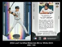 2004 Leaf Certified Materials Mirror White #223