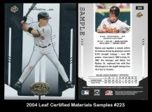 2004 Leaf Certified Materials Samples #223