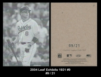 2004 Leaf Exhibits 1921 #9
