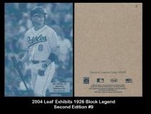 2004 Leaf Exhibits 1926 Block Legend Second Edition #9