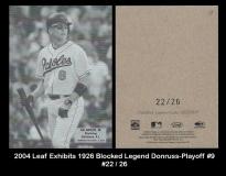 2004 Leaf Exhibits 1926 Blocked Legends Donruss-Playoff #9