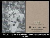 2004 Leaf Exhibits 1926 Unblocked Legend Donruss-Playoff #9