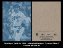 2004 Leaf Exhibits 1926 Unblocked Legend Donruss-Playoff Second Edition #9
