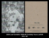 2004 Leaf Exhibits 1939-46 Cordially Yours Left #9