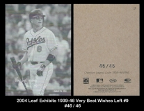 2004 Leaf Exhibits 1939-46 Very Best Wishes Left #9