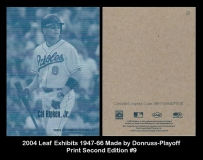 2004 Leaf Exhibits 1947-66 Made By Donruss-Playoff Print Second Edition #9