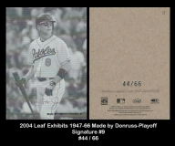 2004 Leaf Exhibits 1947-66 Made by Donruss-Playoff Signature #9