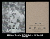 2004 Leaf Exhibits 1947-66 Made in USA Print #9