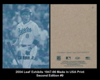 2004 Leaf Exhibits 1947-66 Made in USA Print Second Edition #9