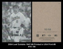 2004 Leaf Exhibits 1947-66 Printed in USA Print #9