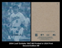 2004 Leaf Exhibits 1947-66 Printed in USA Print Second Edition #9