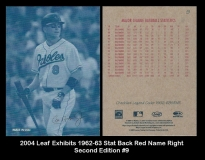 2004 Leaf Exhibits 1962-63 Stat Back Red Name Right Second Edition #9