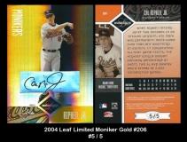 2004 Leaf Limited Moniker Gold #206
