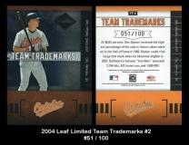 2004 Leaf Limited Team Trademarks #2