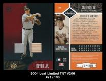 2004 Leaf Limited TNT #206