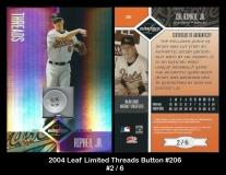 2004 Leaf Limited Threads Button #206