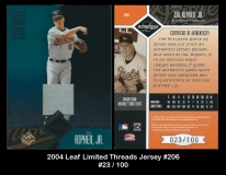 2004 Leaf Limited Threads Jersey #206