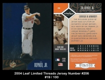 2004 Leaf Limited Threads Jersey Number #206