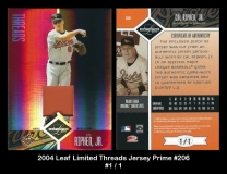 2004 Leaf Limited Threads Jersey Prime #206