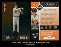 2004 Leaf Limited Bronze Spotlight #206