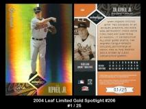 2004 Leaf Limited Gold Spotlight #206