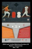 2004 Leaf Limited Matching Numbers #4