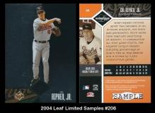 2004 Leaf Limited Samples #206