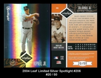 2004 Leaf Limited Silver Spotlight #206