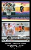 2004 Leaf Limited Team Threads Jersey Number Prime #2