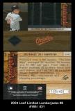 2004 Leaf Limited Lumberjacks #8