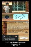 2004 Leaf Limited Lumberjacks Autographs #8
